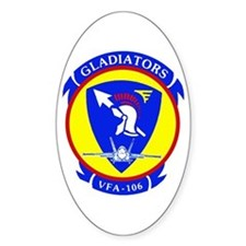 VFA 106 Gladiators Oval Decal