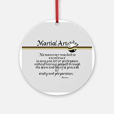 Martial Artitude Horace Ornament (Round)