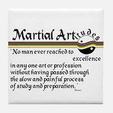 Martial Artitude Horace Tile Coaster