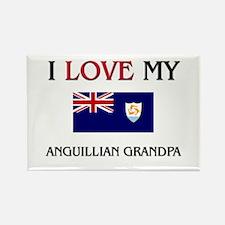 I Love My Anguillian Grandpa Rectangle Magnet