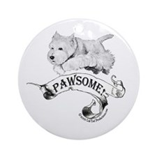 Westhighland White Terrier Paw Ornament (Round)