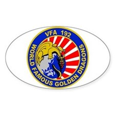 VFA 192 Golden Dragons Oval Decal