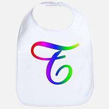 Rainbow Cursive T Bib