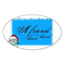 a friend angle Oval Decal