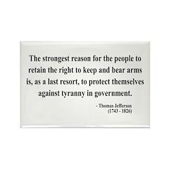 Thomas Jefferson 7 Rectangle Magnet (100 pack)