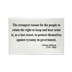 Thomas Jefferson 7 Rectangle Magnet