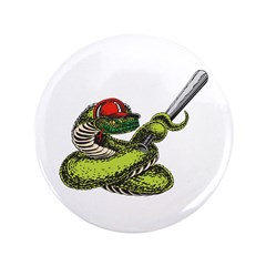 "Baseball Snake 3.5"" Button"