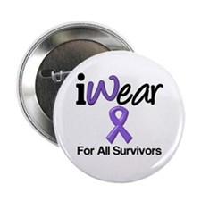 "Purple Ribbon Survivors 2.25"" Button"