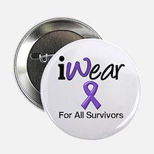 """Purple Ribbon Survivors 2.25"""" Button"""