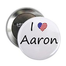 """I """"Heart"""" Aaron 2.25"""" Button (100 pack)"""