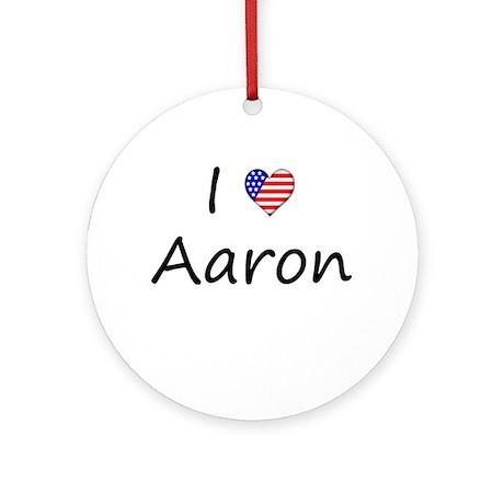 "I ""Heart"" Aaron Ornament (Round)"