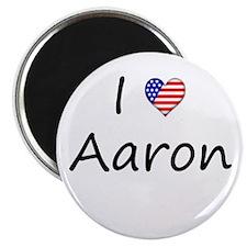 "I ""Heart"" Aaron 2.25"" Magnet (100 pack)"