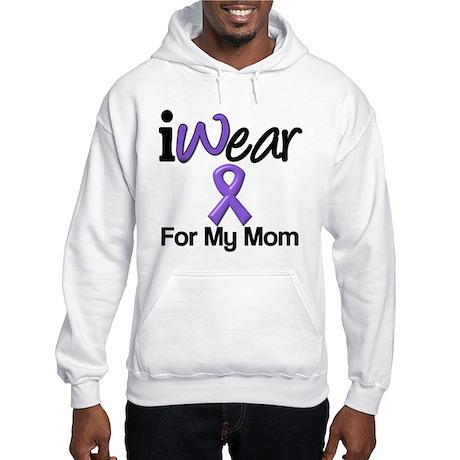 Purple Ribbon Mom Hooded Sweatshirt