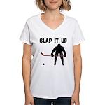 Hockey Women's V-Neck T-Shirt