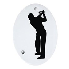 Golf Oval Ornament