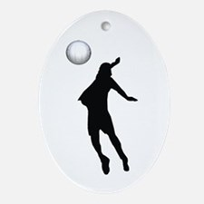 Volleyball Oval Ornament