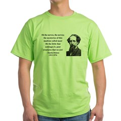 Charles Dickens 19 Green T-Shirt