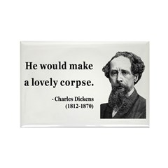 Charles Dickens 18 Rectangle Magnet (100 pack)
