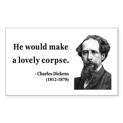 Charles Dickens 18 Rectangle Decal