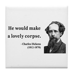 Charles Dickens 18 Tile Coaster