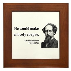 Charles Dickens 18 Framed Tile