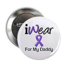 """Purple Ribbon Daddy 2.25"""" Button"""