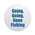 Going Fishing Ornament (Round)