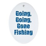 Going Fishing Oval Ornament