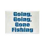 Going Fishing Rectangle Magnet (10 pack)