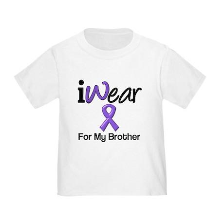 Purple Ribbon Brother Toddler T-Shirt