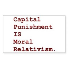 Capital Relativism Rectangle Decal