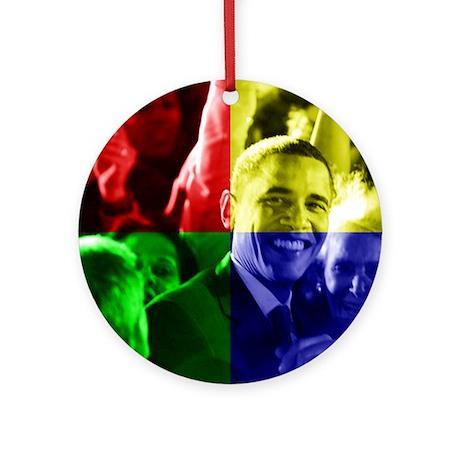 Obama Biden Love Ornament (Round)