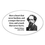 Charles Dickens 16 Oval Sticker