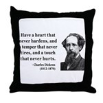 Charles Dickens 16 Throw Pillow
