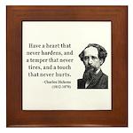 Charles Dickens 16 Framed Tile