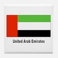 United Arab Emirates Flag Tile Coaster