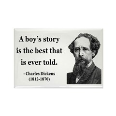 Charles Dickens 15 Rectangle Magnet (100 pack)