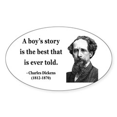 Charles Dickens 15 Oval Decal