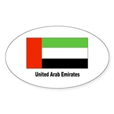 United Arab Emirates Flag Oval Decal