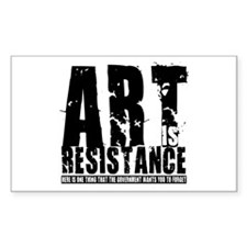 Art is Resistance Rectangle Decal