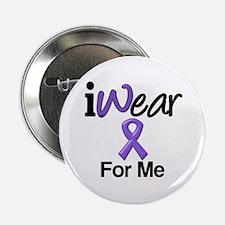 """Purple Ribbon Me 2.25"""" Button"""