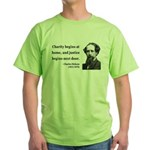 Charles Dickens 14 Green T-Shirt