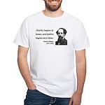 Charles Dickens 14 White T-Shirt