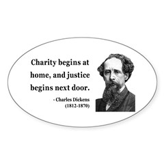 Charles Dickens 14 Oval Decal