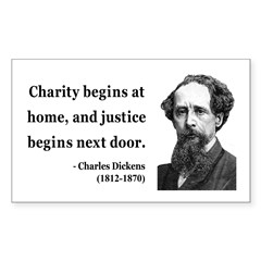 Charles Dickens 14 Rectangle Decal