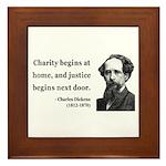 Charles Dickens 14 Framed Tile