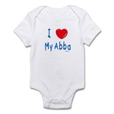 I Love Abba Jewish Kids Infant Bodysuit