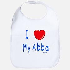 I Love Abba Jewish Kids Bib
