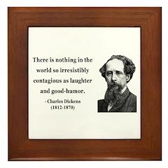 Charles Dickens 13 Framed Tile