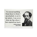 Charles Dickens 12 Rectangle Magnet